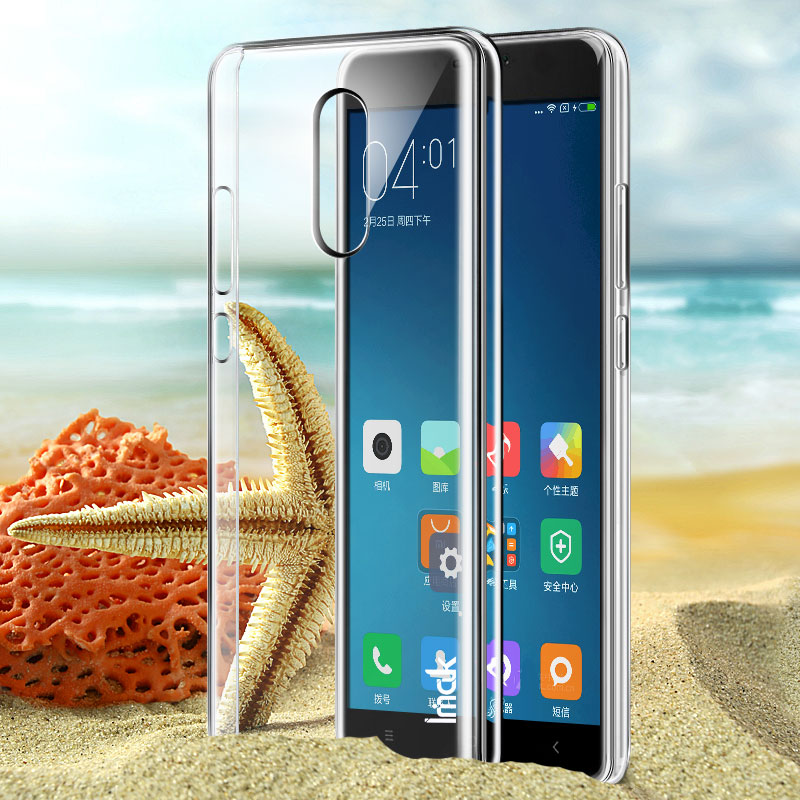 finest selection 6d969 d5190 US $4.59 |IMAK Crystal Phone Case for Xiaomi Redmi Note 4 Transparent PC  hard back cover Case for Xiaomi Redmi Note4-in Fitted Cases from Cellphones  & ...