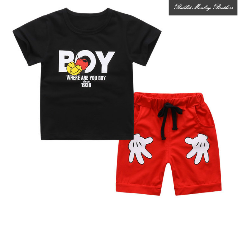Toddler clothing boys summer sets kids 2PCS Toddler Boy Kids Outfits T-shirt+Shorts Clothes Set  for boys 1-4 years baby clothes enfant tops t shirt shorts boys clothing summer outfits 2pcs kids boy clothes set cartoon printed cotton 1 7t children garments
