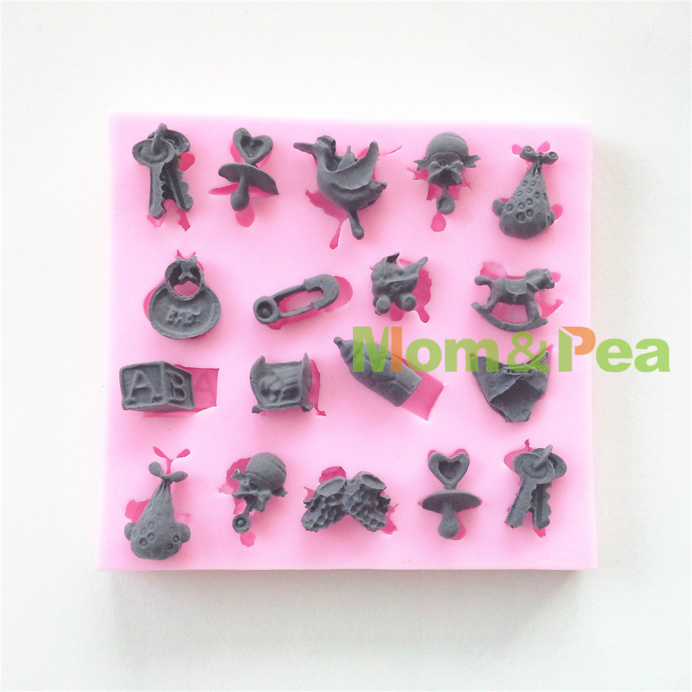 Free Shipping Keys Safety Pin Silicone Mold Cake Decoration Fondant Cake 3D Food Grade Silicone Mould 0277