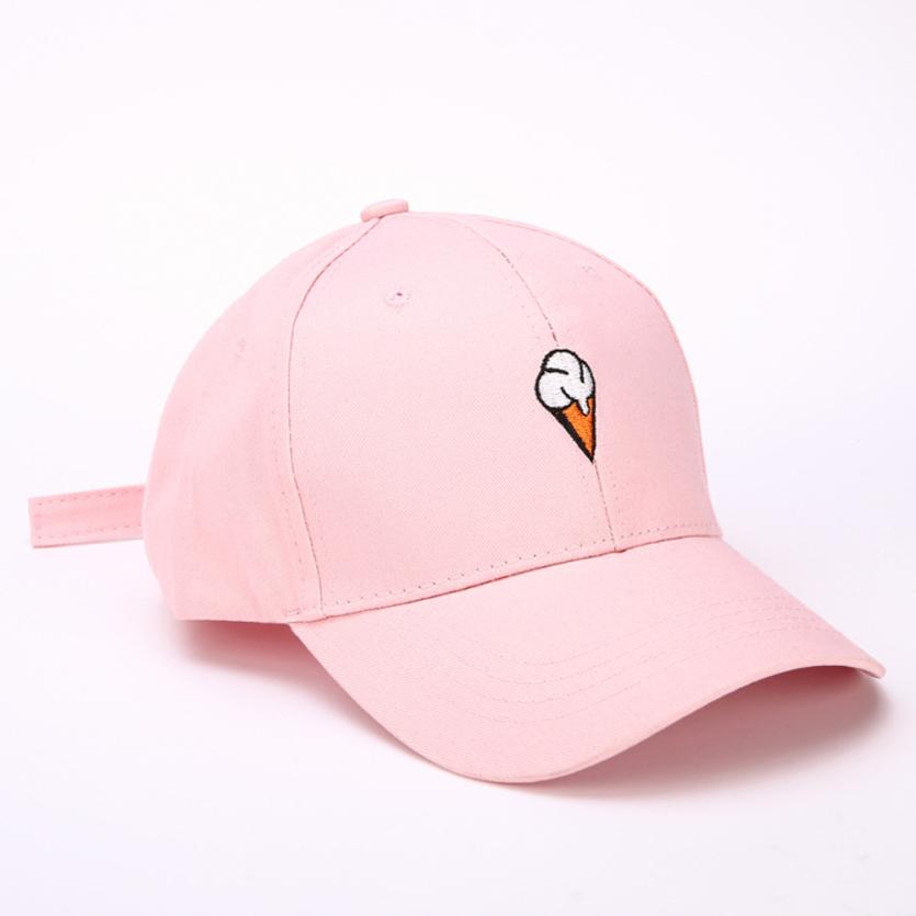 99636ee3af8 2017 Unisex Men Women Golf Embroidery Icecream Cap Peaked Hat HipHop Curved  Strapback Snapback Baseball Cap adjustable Sun Hats-in Baseball Caps from  ...