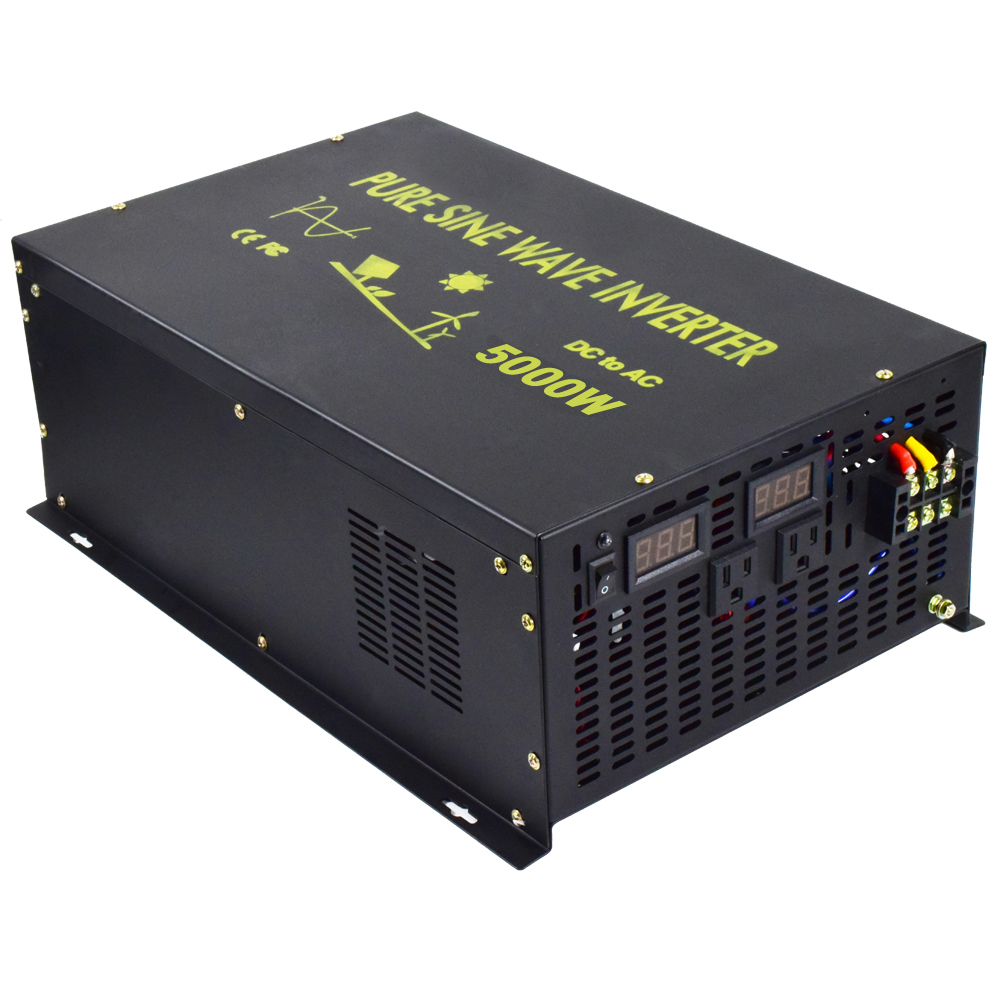 10000W Peak <font><b>5000W</b></font> Pure Sine Wave <font><b>Solar</b></font> Inverter 24V 230V <font><b>Solar</b></font> <font><b>Panel</b></font> Inverter Voltage Regulator 12V/48V DC to 110V/120V/220V AC image