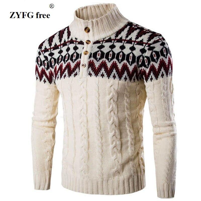 2018 Nieuwe mannen casual sweater herfst modemerk standkraag - Herenkleding