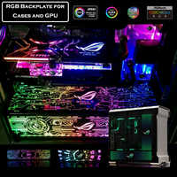Customized PC Case Backplate For Case/Graphics Card Side Panel RGB Symphony Light Colorful/RGB/Adressable D-RGB AURA Streamer