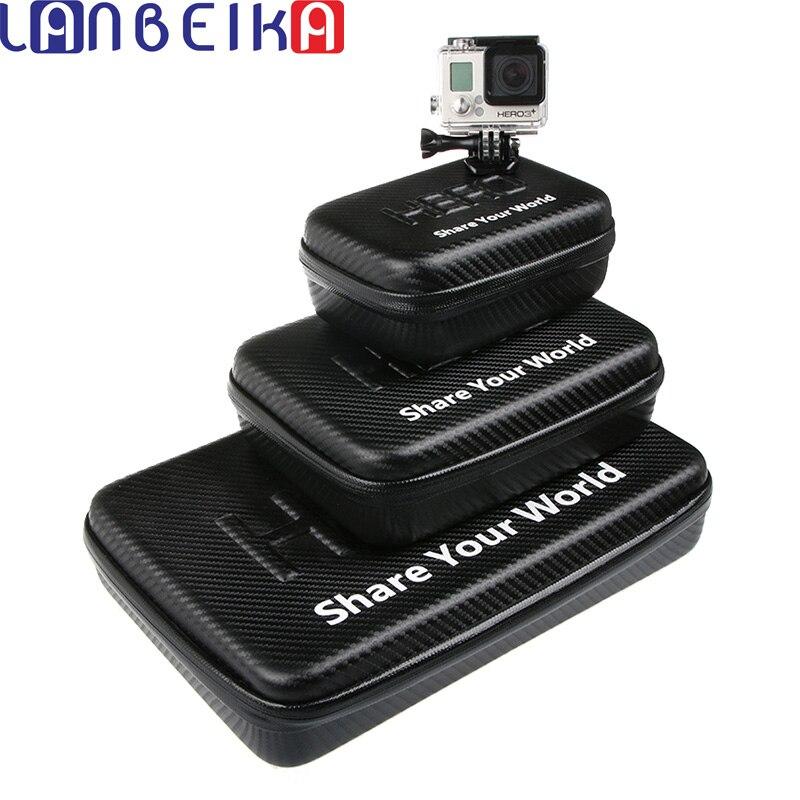 LANBEIKA For Gopro Waterproof Portable Case Bag Box PU Protection For SJCAM SJ5000 SJ4000 M20 SJ6 SJ7 Go Pro Hero 6 5 4 3+ Eken