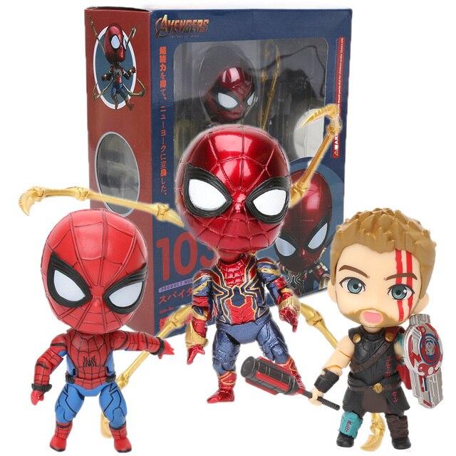 Endgame 10-17 CENTÍMETROS Nendoroid 1037 Vingadores Brinquedos Suoerhero Aranha De Ferro Ferro Spiderman PVC Action Figure Modelo Boneca Dos Desenhos Animados brinquedo