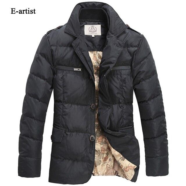 E-artist Men's Stand Casual Duck Down Jackets Coats Male Winter Warm Ultra-light Parkas Outwear Overcoats Plus Size 5XL Y5