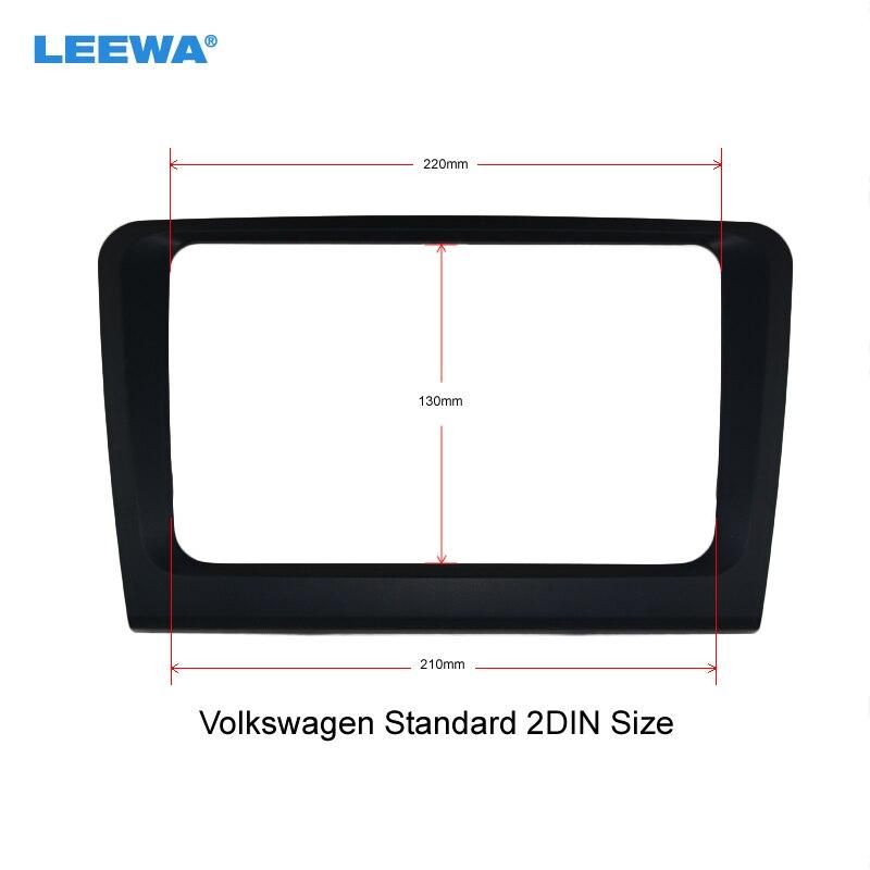 LEEWA Car Refitting DVD Frame, Audio Frame, Radio Frame, DVD Panel, Fascia for Skoda Superb #CA3861G 4pc for skoda kodiaq glass lifting control switch panel protect decorative frame