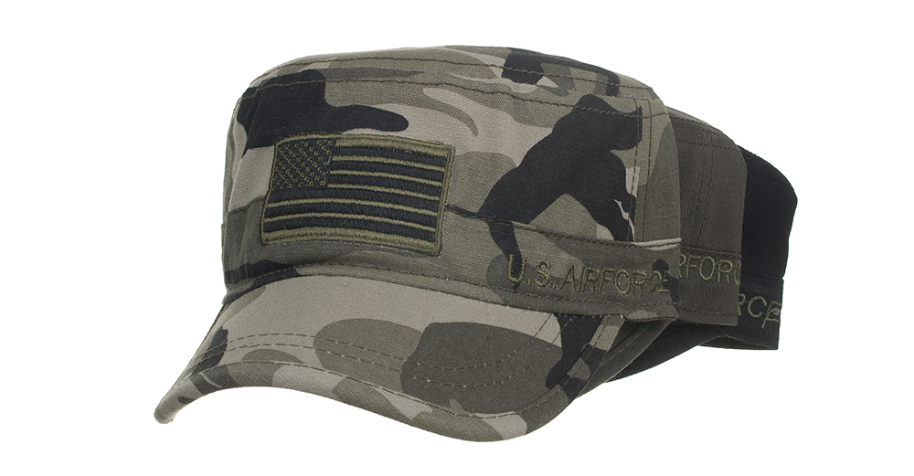 Jeep Embroidered US Army Cadet Military Hats Twill Army Corps Cap Flat Top Hat