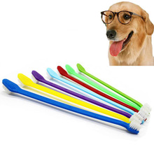 Handle Tooth Brush For Pet Dog Cat Plastic Healthy Toothbrush Mouth Cleaning Finger for Dogs 1pcs 22cm Long