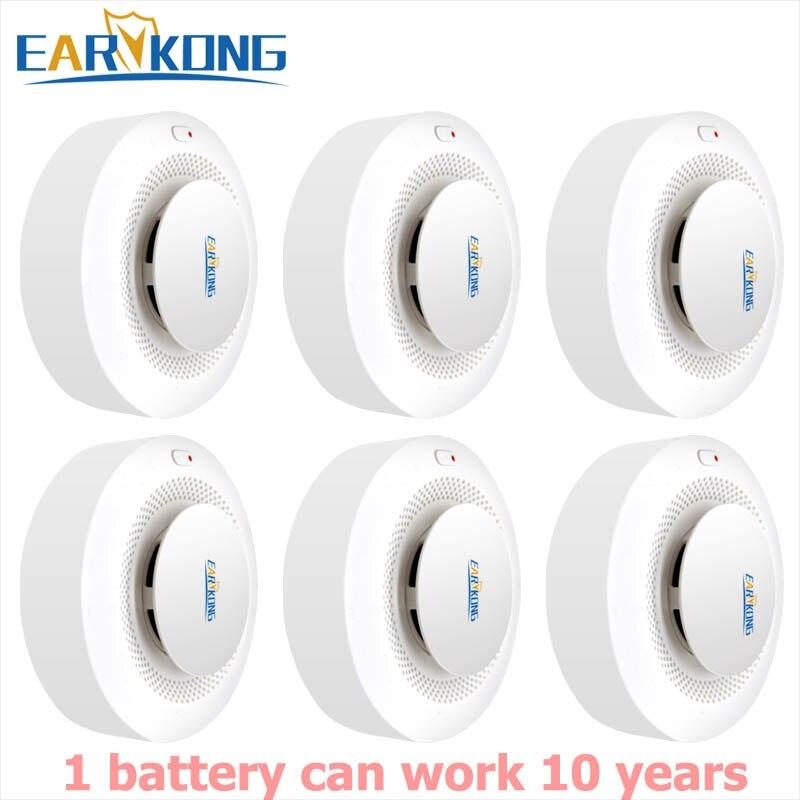 10 Year Working 433MHz Wireless Smoke Alarm Low Power Consumption Battery Works For 433 Home Burglar PG103 W2B G2B WPG M2B Etc..