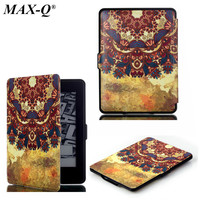 MAX Q Luxury Elegant Smart Maganetic Ultra Slim Pu Leather Case Cover For Amazon Kindle Paperwhite