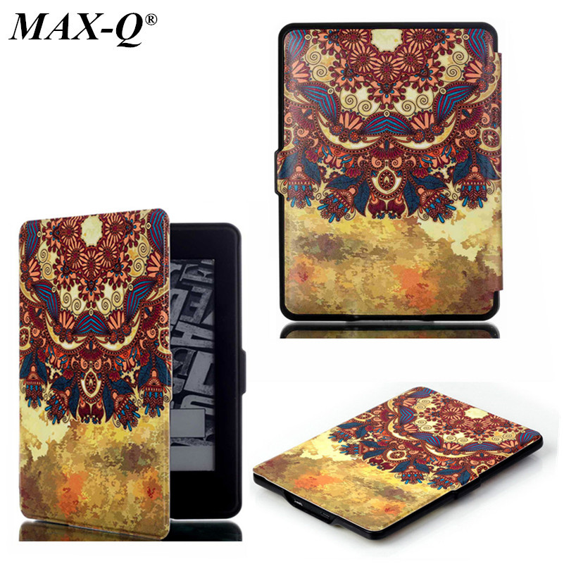 MAX-Q Luxury Elegant Smart Magnetic Ultra slim Pu leather case cover for Amazon funda kindle paperwhite 3 2 1(New model) цены онлайн