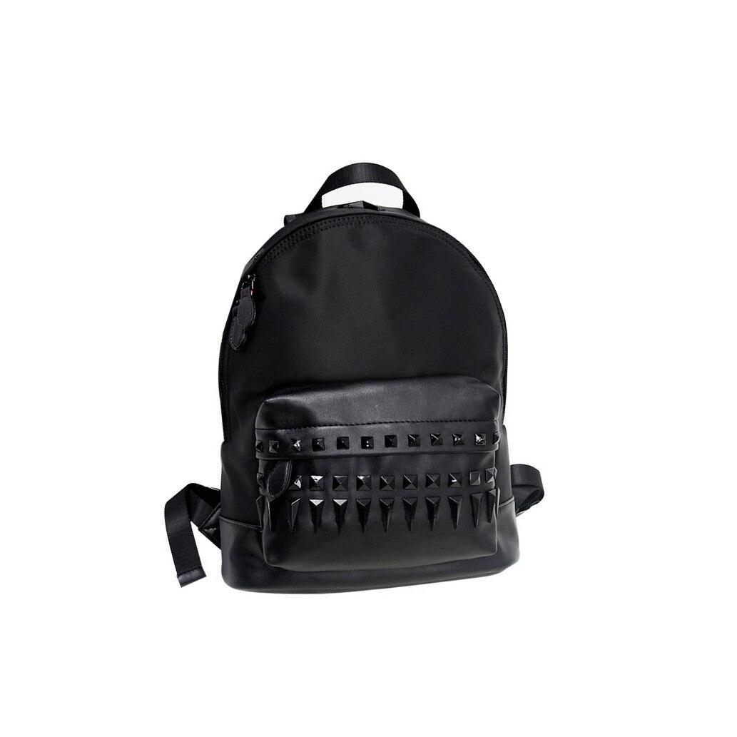 ФОТО 2017 Fashion black backpacks for teenage girls designer waterproof oxford school bags zipper backpacks women sac a main femme