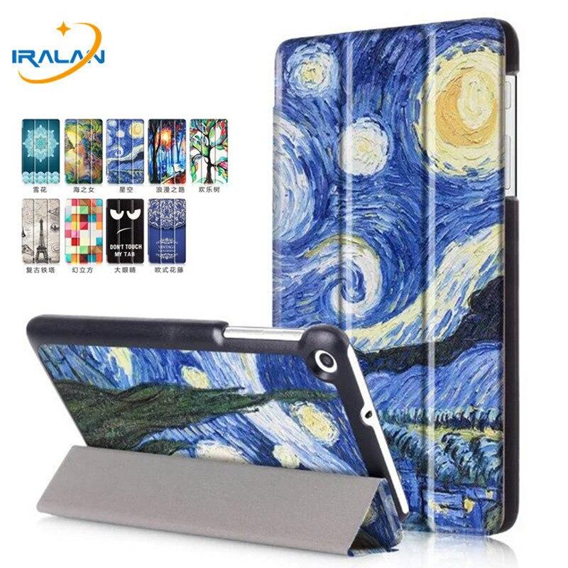 Cas pour Huawei Mediapad T2 7.0 BGO-DL09 BGO-L03/T1 7.0 T1-701 T1-701U Tablet PC Stand Couverture de Cuir Peint + livraison film + stylus