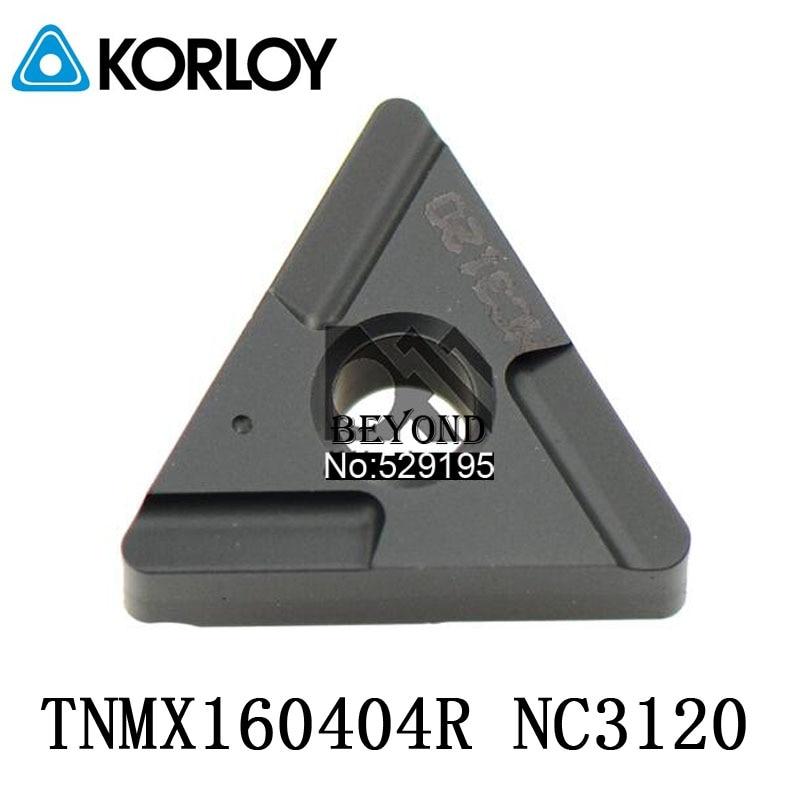 Original Korloy TNMX160404R TNMX160408R NC3120 Carbide Inserts TNMX160404 TNMX160408 TNMX 160404 160408 Indexable Lathe Tools