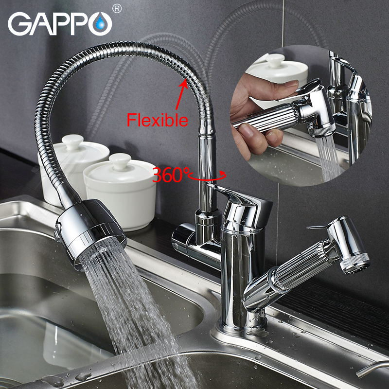 Gappo kitchen Faucets rotatable kitchen pull out water mixer Faucets kitchen water sink mixer deck mounted mixers taps          Gappo kitchen Faucets rotatable kitchen pull out water mixer Faucets kitchen water sink mixer deck mounted mixers taps