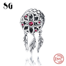 Hot sale 925 Sterling Silver Charms Dream catcher Beads Fit pandora pandora bracelets fashion Jewelry making for women gifts sg new arrival 925 sterling silver charms dream catcher beads with cz fit pandora bracelets diy jewelry making for women gifts