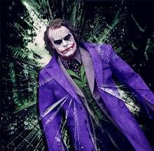 """Stokta sınırlı 1/6 ölçekli Batman Joker mor ceket takım elbise palyaço kostümü giysileri için 12 """"DIY DX01 DX11 eylem figürü"""
