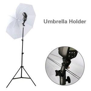 Image 4 - 2Pack Kamera Flash Speedlite Mount Swivel Light Stand Halterung mit Regenschirm Reflektor Halter für canon nikon yongnuo godox