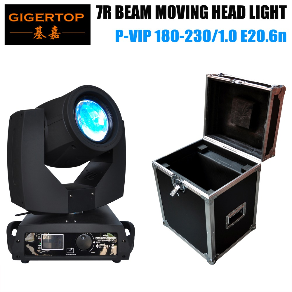 Road Case 1in1 Pack 7R Moving Head Gobo Light Rotation 16-face Prism High Precision Optical Lens Phrase Motor For Wedding Party russian phrase book