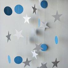 Dětská modrá 13 Ft Kruh White Star Balloon Garland 2ks Narozeniny Party Decorations Adult Wedding Decro