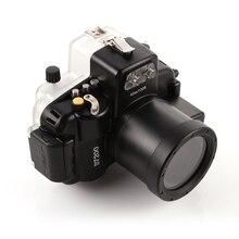 40 m étanche plongée sous-marine caméra logement cas pour nikon d7200 caméra 18-55mm