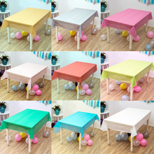 1pcs/lot Solid Color Blue Hot Pink Gold Silver Wedding Decorate Plastic Table cover Birthday Party Tablecloth Baby Shower Maps