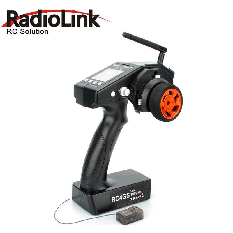 RadioLink RC4GS 2.4G 4CH Gun Controller Transmitter R6FG Receiver Gyro Inside 4 Channel RC Car RC Boat