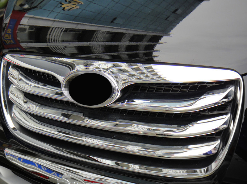 <font><b>2010</b></font>-2012 Chrome Front Grill Around Trim 4pcs Fit for <font><b>HYUNDAI</b></font> <font><b>Santa</b></font> <font><b>Fe</b></font> <font><b>2010</b></font> 2011 2012 image