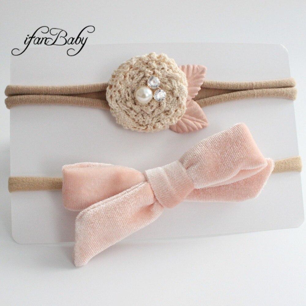 kids girl fabric flower headband nylon headband (4)