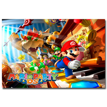 Шелковый Плакат Гобелен Супер марио Super Mario