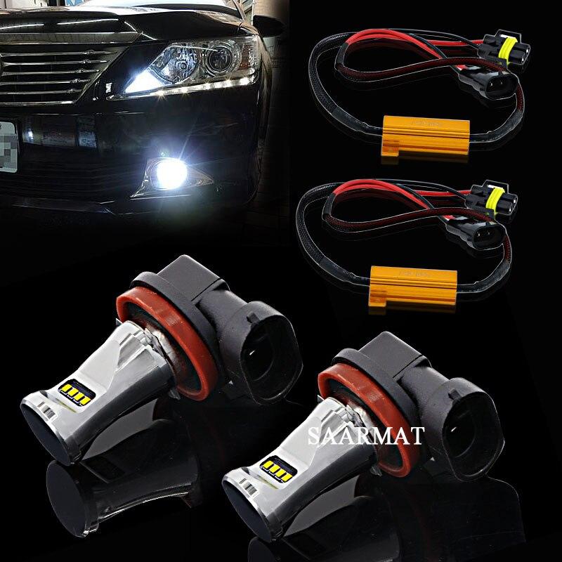 KIMISS 1 Pair Car Daytime Running Light DRL LED Lights Fog Lamp for W204 AMG 08-11