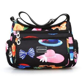 4293a26af499 Водонепроницаемая оксфордская сумка через плечо Флоральная печать сумка- мессенджер легкая сельская стильная сумка для отдыха Милая свежа.