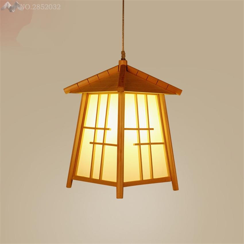 lfh new llev luces colgantes saln comedor de madera maciza jaula lmparas colgantes