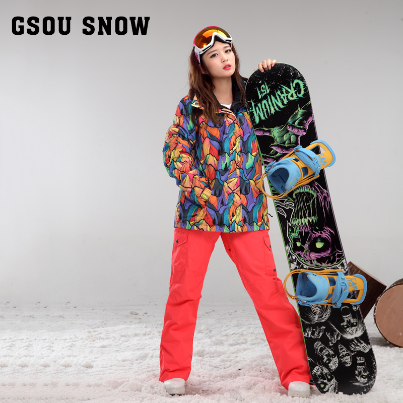 New Gsou Snow Double Snowboard Suit, Outdoor Breathable, Thick Waterproof