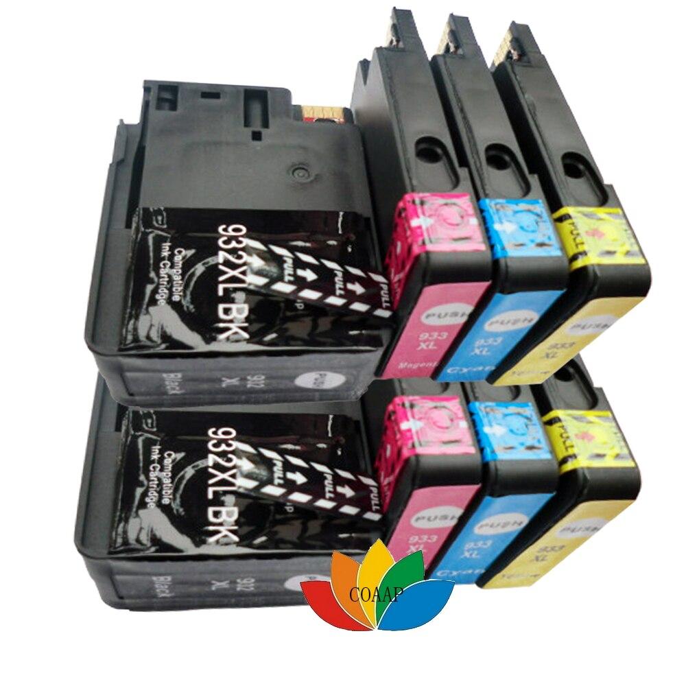 8 чип касета с мастило Съвместима с hp932XL hp933XL Замяна за HP Officejet 6100 6600 6700 7110 7610 Принтер