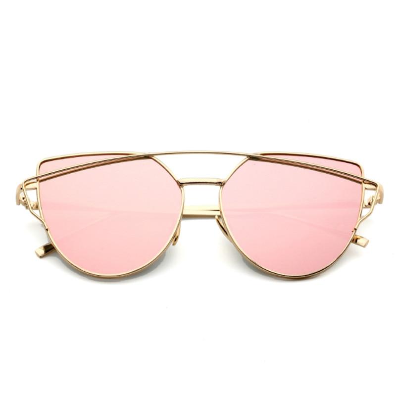 Kass silmade päikeseprillid naised Vintage daamid prillid peegel - Rõivaste aksessuaarid