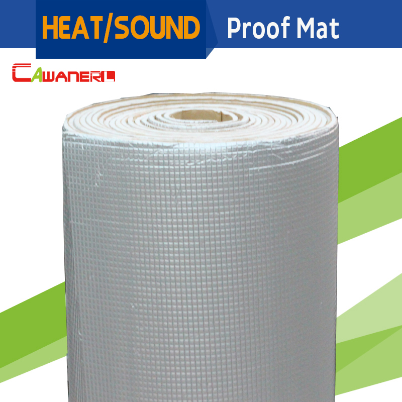 Cawanerl 180 CM X 100 CM bouclier thermique de voiture réfléchissant contrôle du bruit insonorisant tapis d'isolation feuille d'aluminium