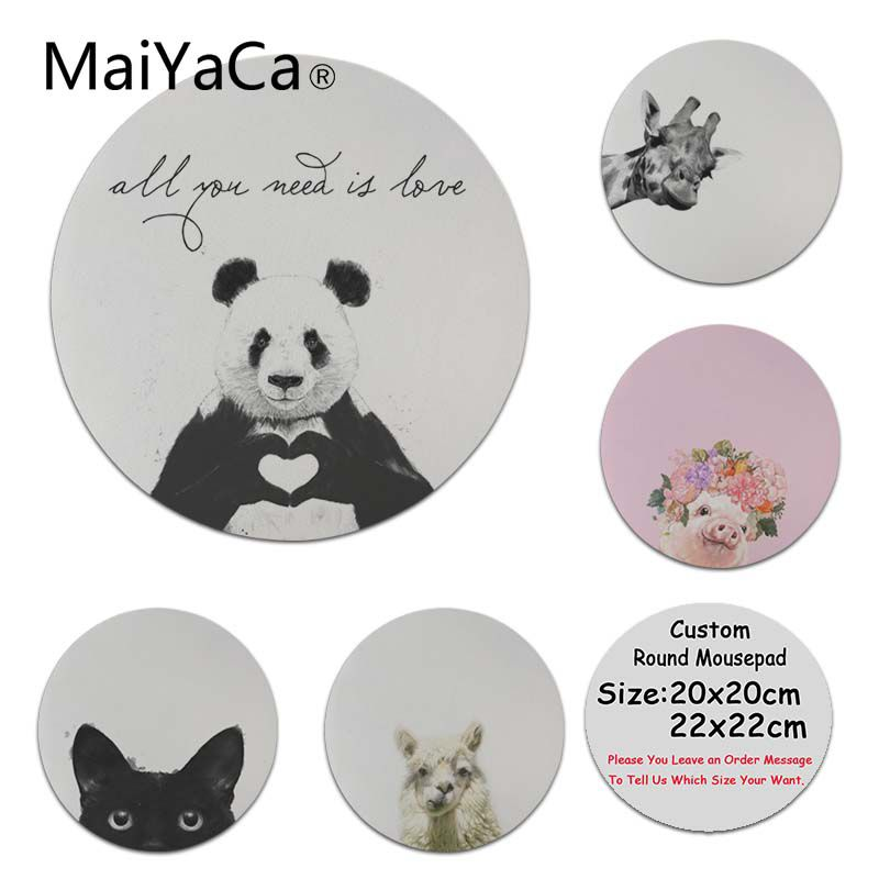 MaiYaCa Hot Sales All You Need Is Love High Speed New Mousepad Size for 200x200x2mm and 220x220x2mm Round Mousemats