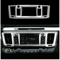 For Toyota RAV4 2016 2017 Centre Control Panel Console Navigation Frame Cover Trim Decoration ABS Chrome Sticker Car Accessories