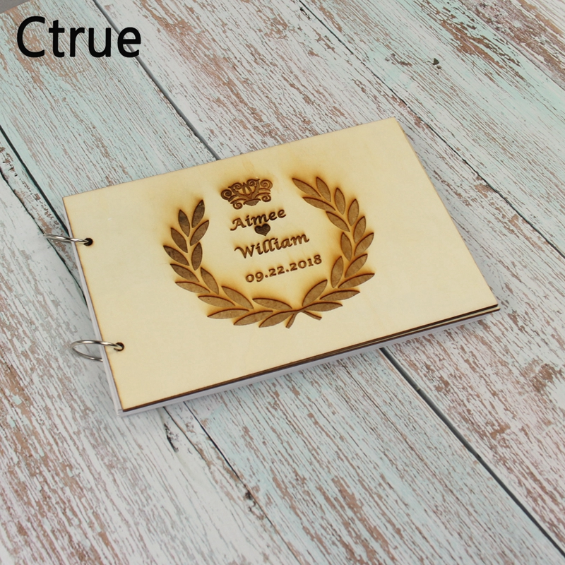 Us 13 78 30 Off 21 5x15cm Custom Wedding Guest Book Engraved Wooden Sign With Name Date Personalized Gift For In