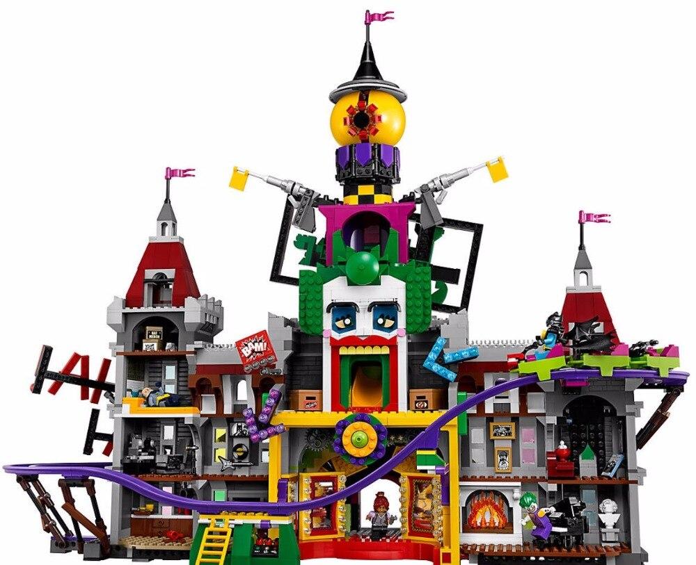 Batman Movie The Joker Manor Super Heroes Series 3857Pcs Building Block Brick Toy Compatible Legoings Super Hero 70922 single sale dc super heroes batman batgirl fairy batman bathrope legoings joker rainbow building block figure toys child gift