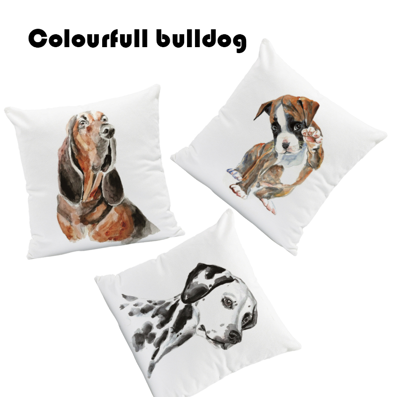 Pug Greyhound Cushion Pillow Golden Retriever Pillow Case Oil Printed Football Room Decor Home Pillow With Cover Small Velvet