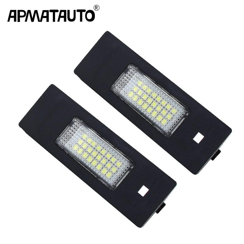 2x белый 12v светодиодные номерной знак светильник для хэтчбеков BMW серий 1 E87N E85 Z4 E86 6 серии E63 E64 Освещение номерного знака автомобиля светильн...