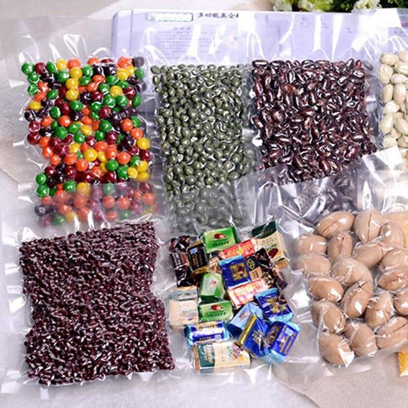 100pcs lot 5 sizes Food Clear Vacuum Sealer Bag Packaging Machine Film Seal Bag Vacuum Packer