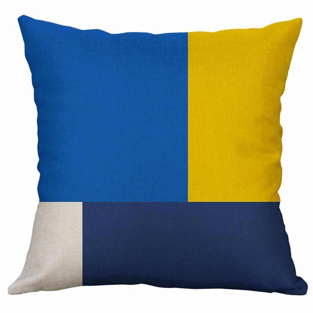Геометрический чехол для подушки из хлопка и льна, наволочка для подушки 45*45 см 40*40 см, чехол для подушки в скандинавском геометрическом стиле, декоративный чехол для подушки