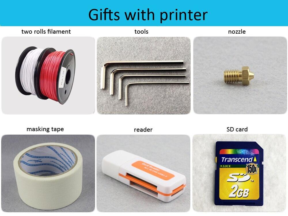 3d комплект принтера бесплатная доставка