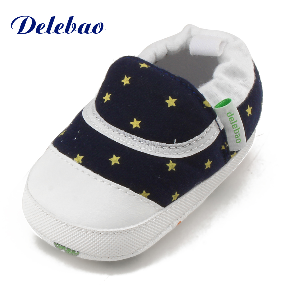 4453762acd7f10 Delebao 2017 New Design Baby Shoes Unique Stars Elastic Band Toddler Shoes  Pink Stars Soft Sole First Walkers