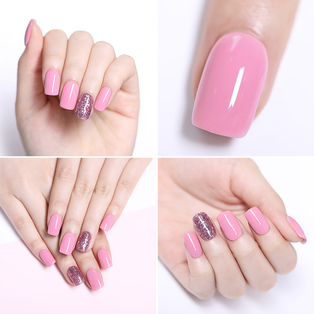 LILYCUTE Candy 7ml Nail Polish Semi Permanent Pure Nail Color Gel