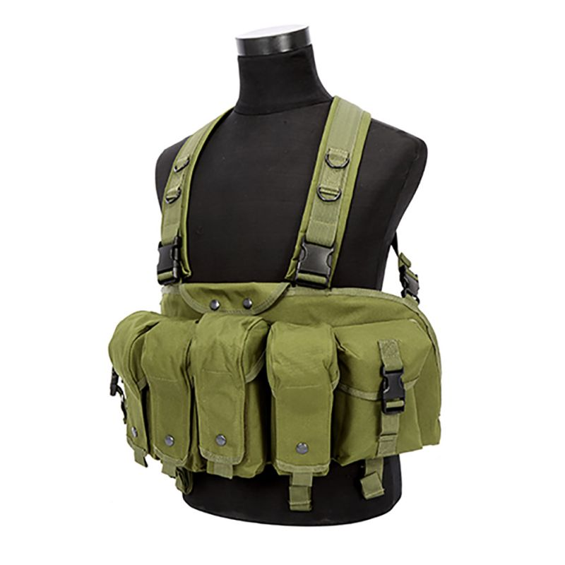 Outdoor Hunting Military Camouflage War Game Tactical Vest Chest Rig AK 47 Combat Clothing New Green Color Hunting Vest